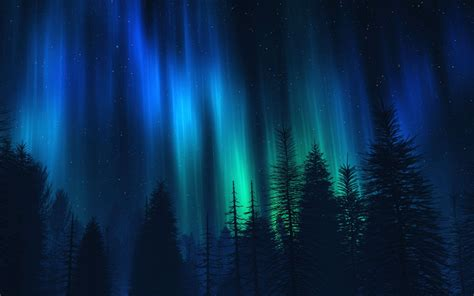 northern lights night stars borderlands  sign blue