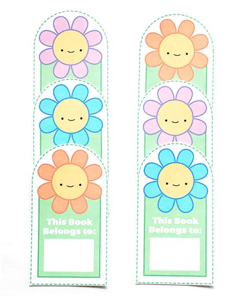 free printable bookmarks flowers 8 best images of printable flower bookmarks free