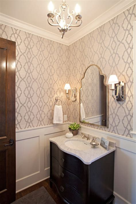 Sheen Kitchen Design Pleasing Wallpaper Powder Room Contemporary With Black And