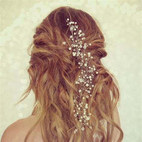 Wedding Hair Pieces Boho by Wedding Hair Vine Babies Breath Boho Bridal Crown