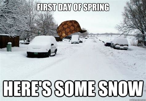 First Day Of Spring Meme - funny spring weather memes