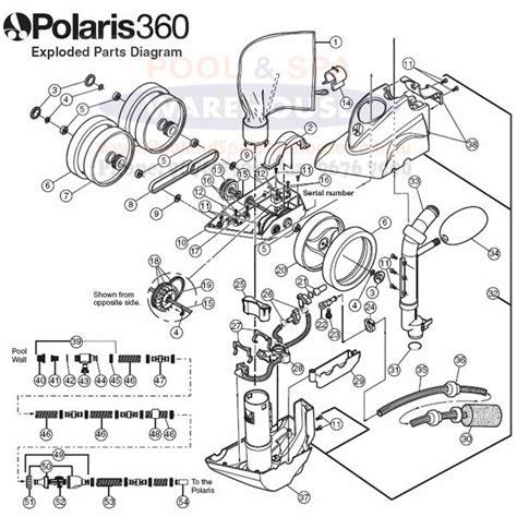 polaris 380 parts diagram polaris 360 pool cleaner spare parts
