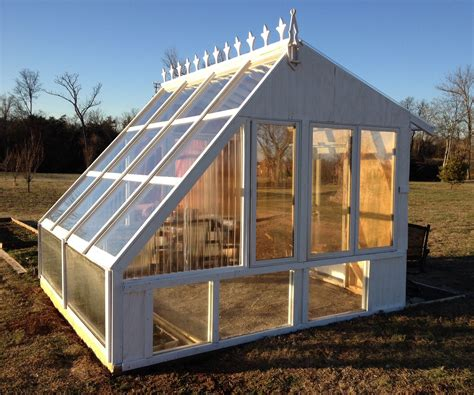 backyard greenhouse from reclaimed windows the winter