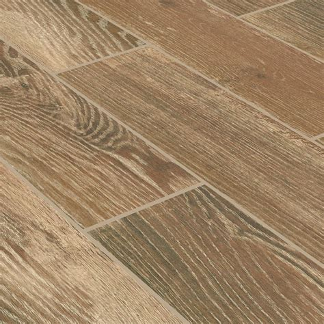 Porcelain Wood Tile Flooring Ceramic Tile Stonepeak Timber Cinnamon 6 Quot X 24 Quot Wood Grain Porcelain Tile