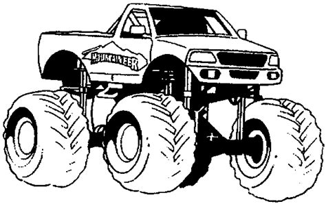 mud truck coloring pages for kids