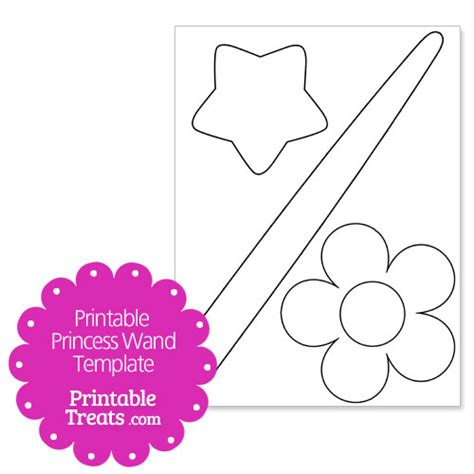 princess template printable princess wand template printable treats