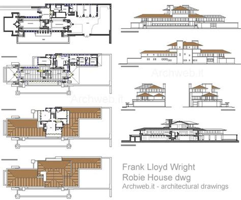 Robie House Floor Plan by Robie House 2d F Lloyd Wright Arquitectura Desenhos
