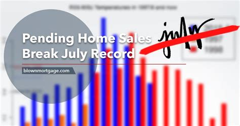 Home Sales Records Pending Home Sales July Record Blown Mortgage