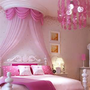 Non woven wallpaper rustic child real girl wallpaper pink
