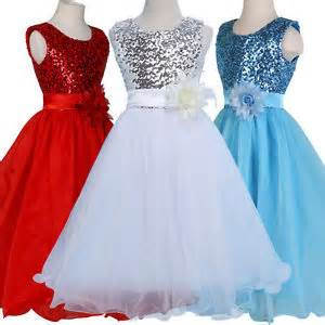 Girls kids birthday pageant wedding party dress age 7 8 9 10 11 12