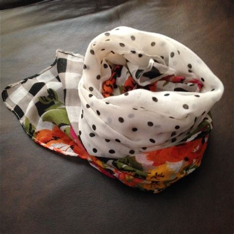 8 Pretty Polka Dot Accessories by 72 Accessories Polka Dot And Floral Scarf From