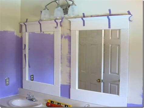 how to frame a bathroom mirror with molding diy bathroom update mirrors in my own style