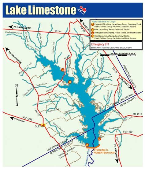 map of lake texas lake limestone