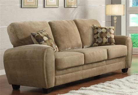 light brown couch rubin sofa 9734br by homelegance in light brown w options