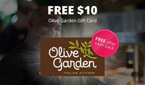 Olive Garden Gift Card Lookup - topcashback free 10 olive garden gift card and free 10