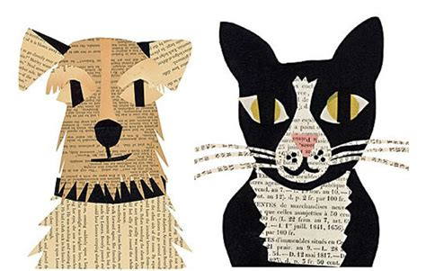 newspaper arts and crafts for simple and paper craft ideas dogs and cats
