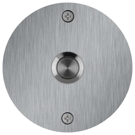 Chrome Dining Room Chairs round stainless steel doorbell contemporary doorbells