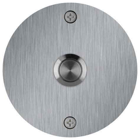 round stainless steel doorbell contemporary doorbells