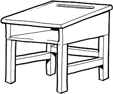 Coloring Desk For by Desk Colouring Pages Cliparts Co