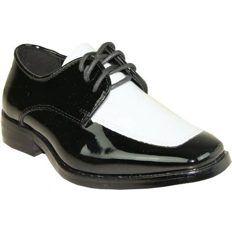 boys black and white dress shoes patent leather tuxedo