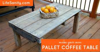 How To Make Your Own Coffee Table Make Your Own Pallet Coffee Table Sanity