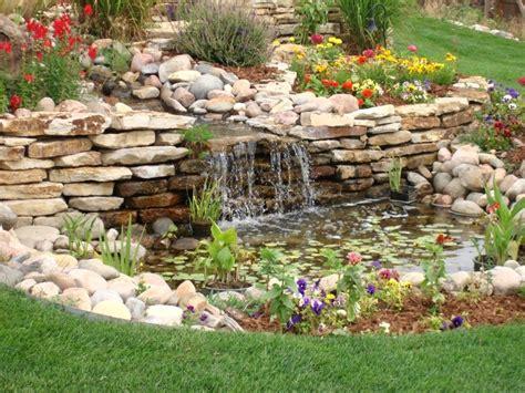 cascata giardino cascate pietra giardino acqua