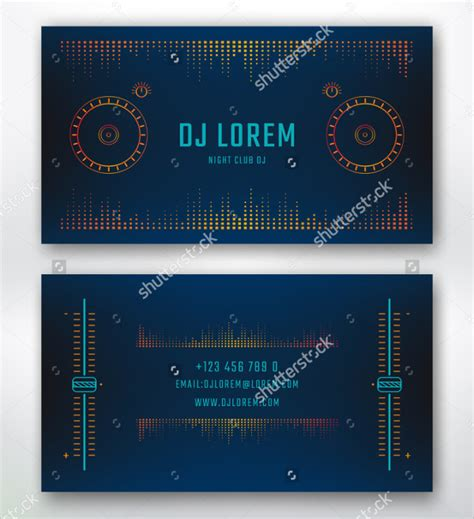 dj business cards background template 25 dj business card templates free premium