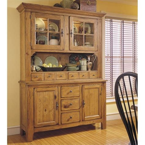 China Kitchen Cabinets Broyhill Attic Heirlooms Wood China Cabinet And Hutch In Oak 5397 Attic Heirlooms
