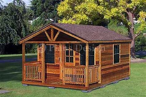 20 x 12 guest house garden porch shed plans p72012 20 x 16 cabin shed with porch project plans design 62016