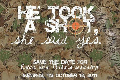 Camouflage Wedding Decorations by Camo Save The Date Print Your Own