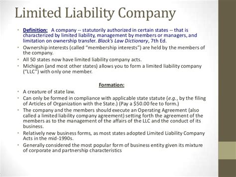 limited liability company facts information pictures corporate formation business law order event series