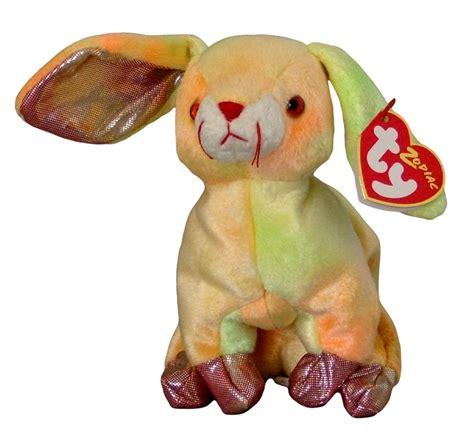 zodiac beanie babies ty zodiac collection rabbit beanie baby beanbag plush other