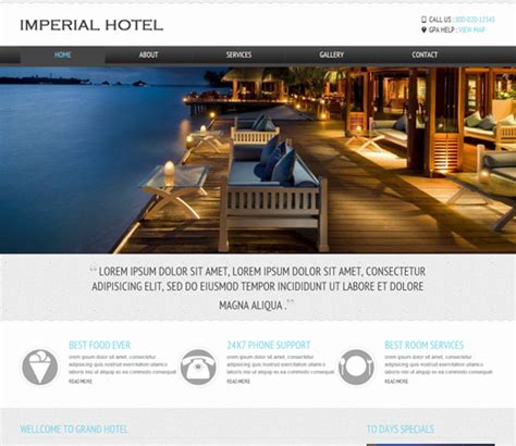 Free Templates For Resort Website | 22 free premium hotel html templates with booking