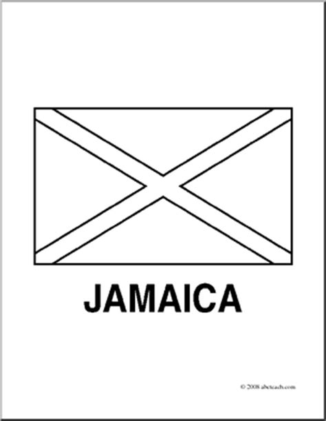 Clip Art Flags Jamaica Coloring Page Abcteach Jamaican Flag Coloring Page