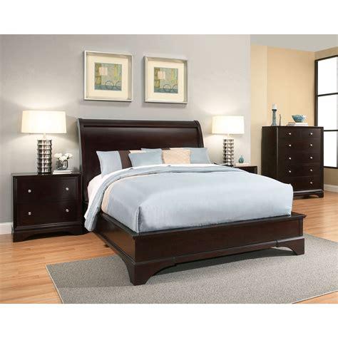 abbyson sydney espresso finish wood bed   bedroom bedroom sets wood bedroom sets
