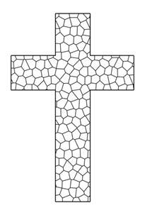 crosses to color free printable cross coloring pages feltmagnet