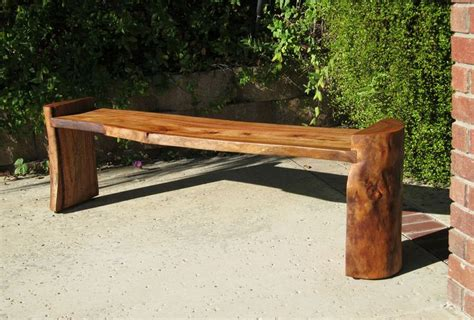 wood slab benches log bench my project inspiration pinterest