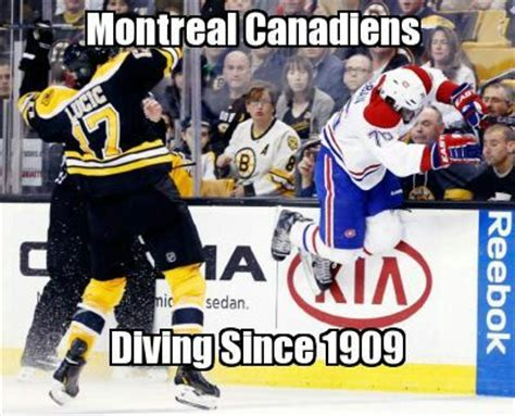 Montreal Canadians Memes - canadiens diving pk subban love that dirty water