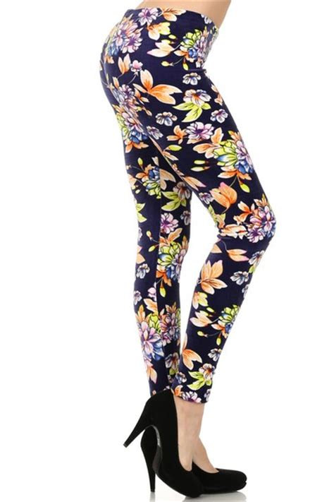 velour patterned leggings vintage floral printed stretch velour leggings socks