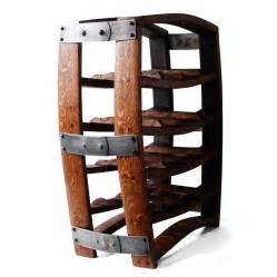 wine barrel wine rack made from reclaimed wood barrels