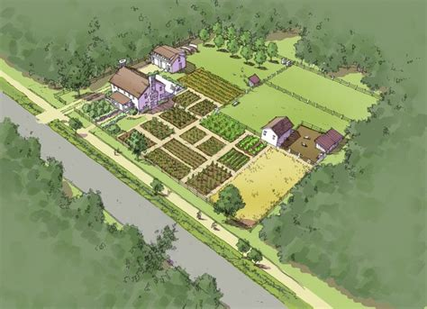 homestead layout plans on 1 acre or less illustrated comprehensive plan self sufficient one acre homestead tpudc town planning
