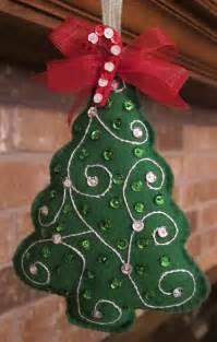 Handmade felt 2015 christmas tree ornaments 2015 christmas tree