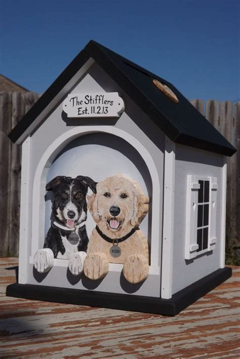 dog house box dog house with 2 dogs wedding card box for large wedding