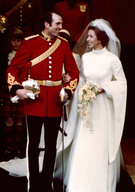 princess anne  mark phillips wedding photo