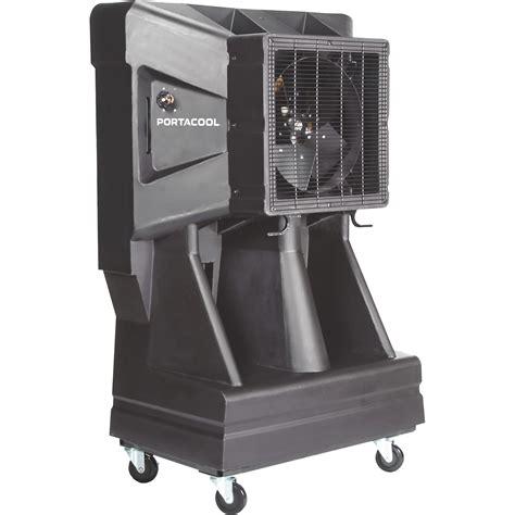 shop fans water cooled portacool portable evaporative cooler 3 900 cfm 16in
