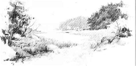 Sketches Grassy Land by Pencil Grass Pencil And In Color Pencil Grass