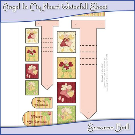 draw so mini waterfall card template waterfall card kits arda productions a digital arts company