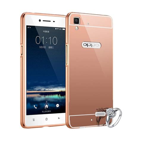 Bumper Mirror Oppo Neo 9 A37 Hardcase jual bumper chrome with backcase mirror casing for oppo neo 9 a37 new gold