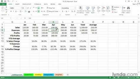 excel tutorial left adjusting horizontal and vertical cell alignment