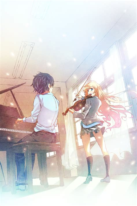 download film anime uso shigatsu wa kimi no uso your lie in april fanart